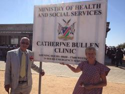 Roger and Linda at the Catherine Bullen Clinic opening in2014