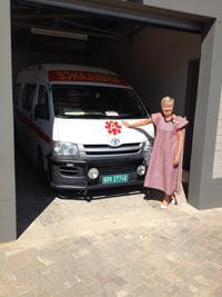 The ambulance Station at the Catherine Bullen Primary Healthcare Clinic in Oshivelo